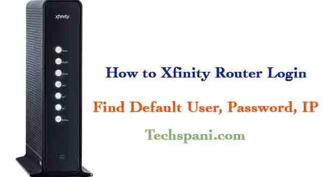 Xfinity Default Router Login